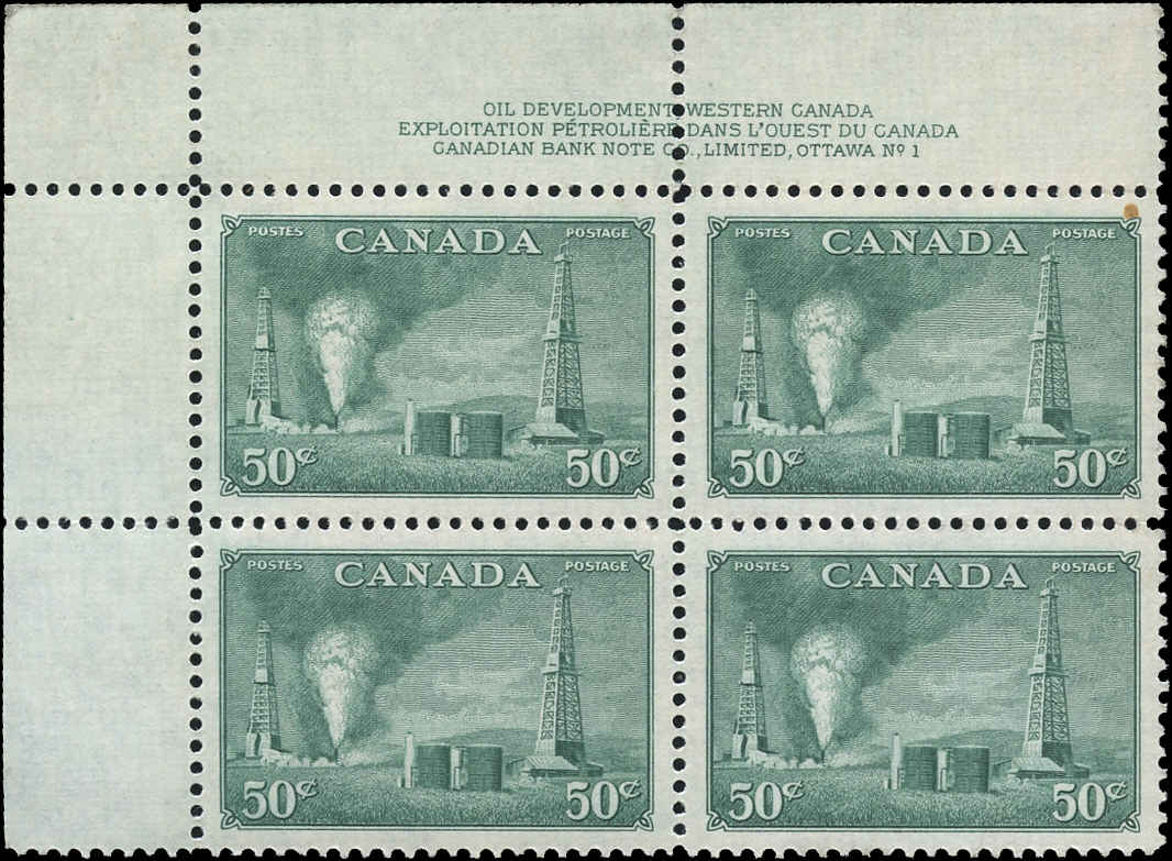 Canada #294, Oil Wells Issue, VF, MNH