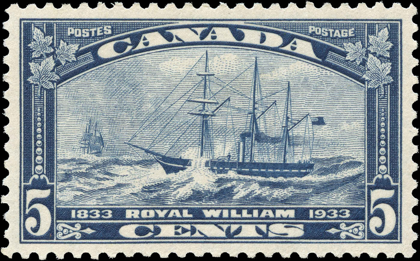 Canada #204, R. William Issue, VF, MH