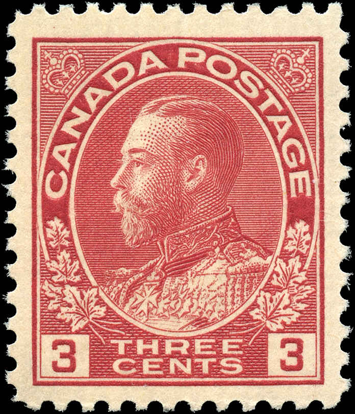 Canada #109, Admiral Issue, VF, MNH