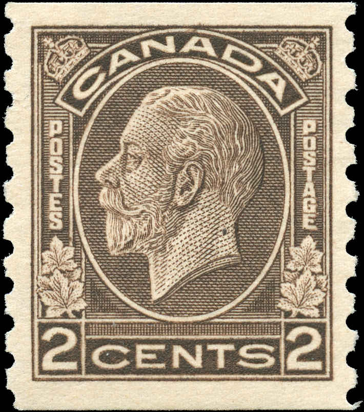 Canada #206, Coil Medallion Issue, VF, MH
