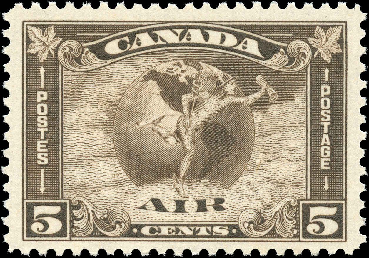 Canada #C2, Airmail Issue, F-VF, MNH