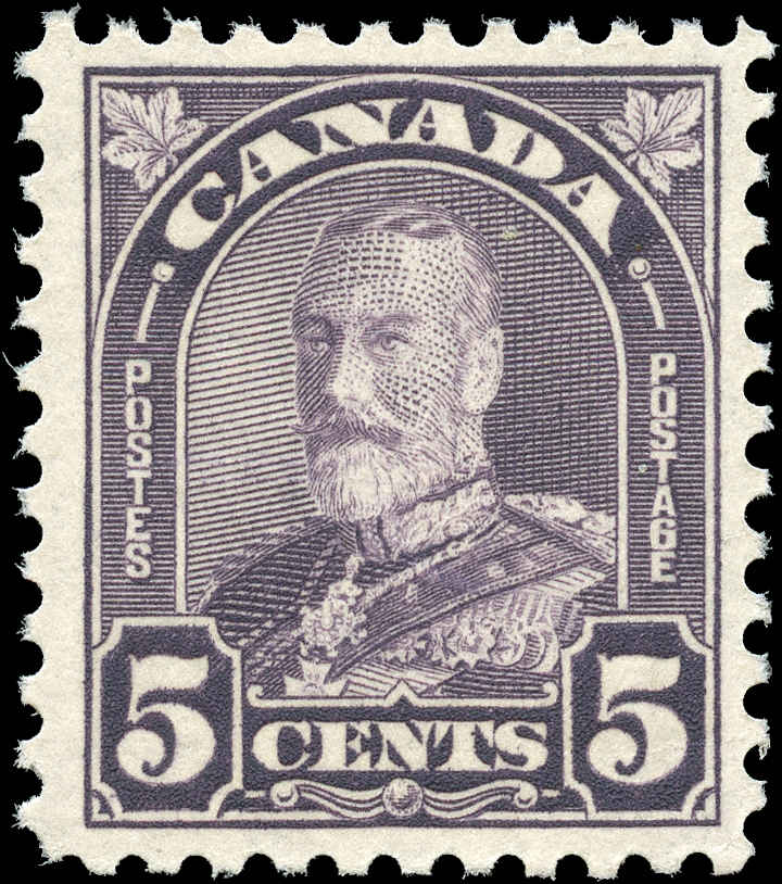 Canada #169, Arch/Leaf Issue, F-VF, MNH