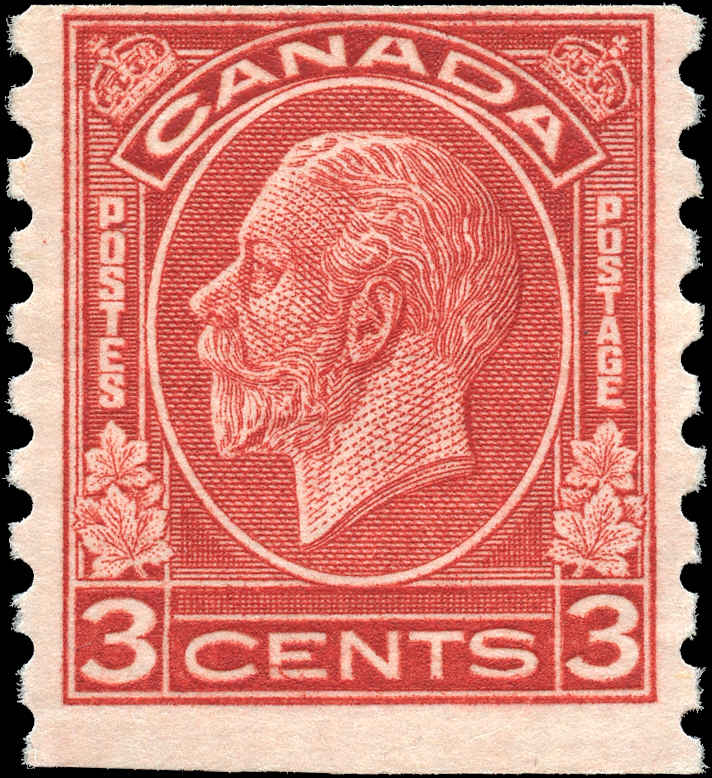 Canada #207, Coil Medallion Issue, F, MH