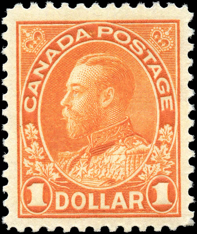 Canada #122, Admiral Issue, VF, MH