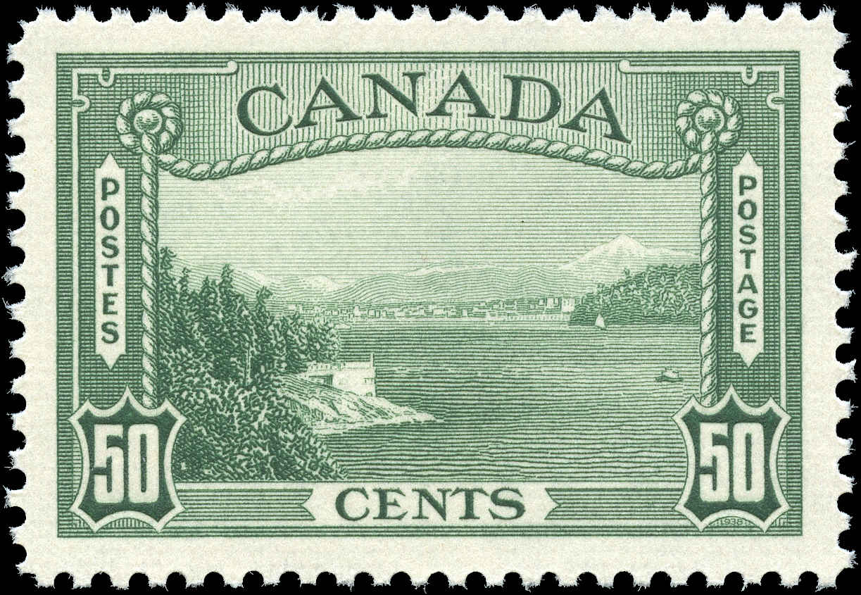 Canada #244, 1938 Pictorial Issue, VF, MNH