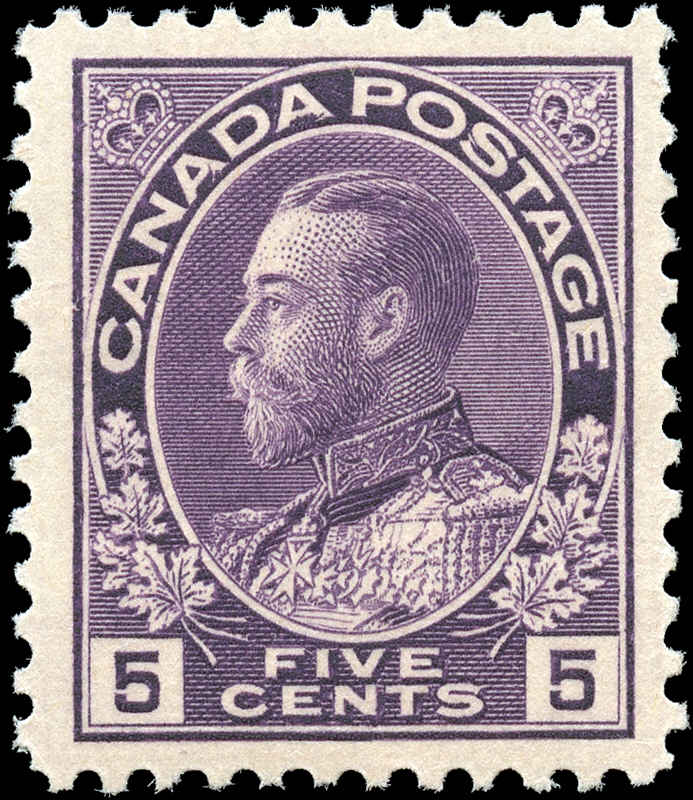Canada #112, Admiral Issue, VF, MNH