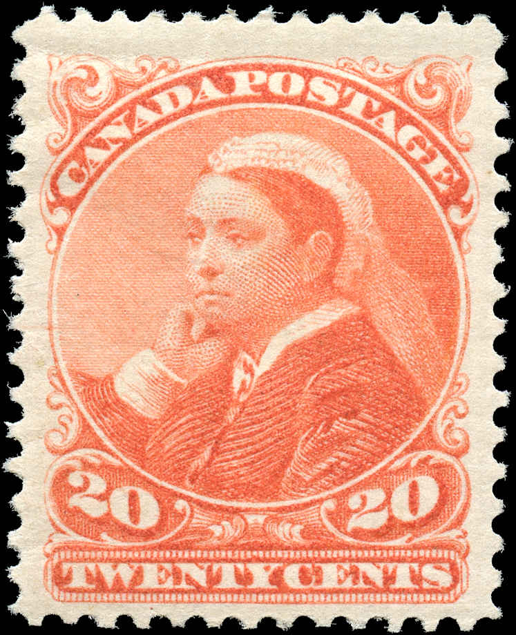 Canada ##46, Small Queen Issue, F-VF, MH
