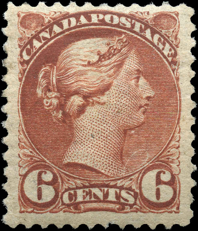 Canada ##39, Small Queen Issue, F+, Mint