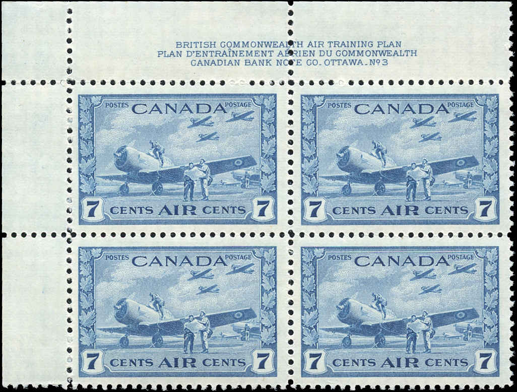 Canada #C8, Airmail Issue, VF, MNH, Plate 1