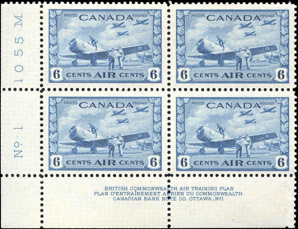 Canada #C7, Airmail Issue, VF, MNH, Plate 1