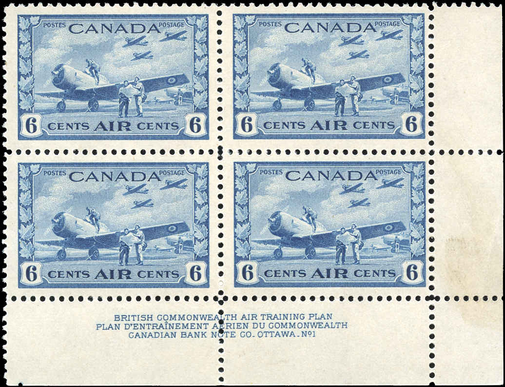 Canada #C7, Airmail Issue, F-VF, MNH, Plate 1