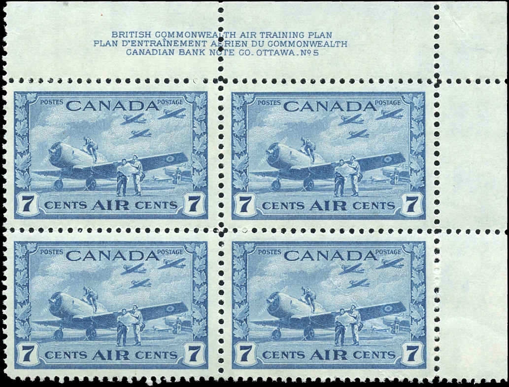 Canada #C8, Airmail Issue, VF, MNH, Plate 5