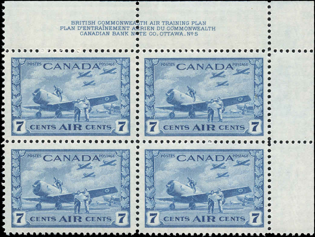 Canada #C8, Airmail Issue, VF, MH, Plate 5