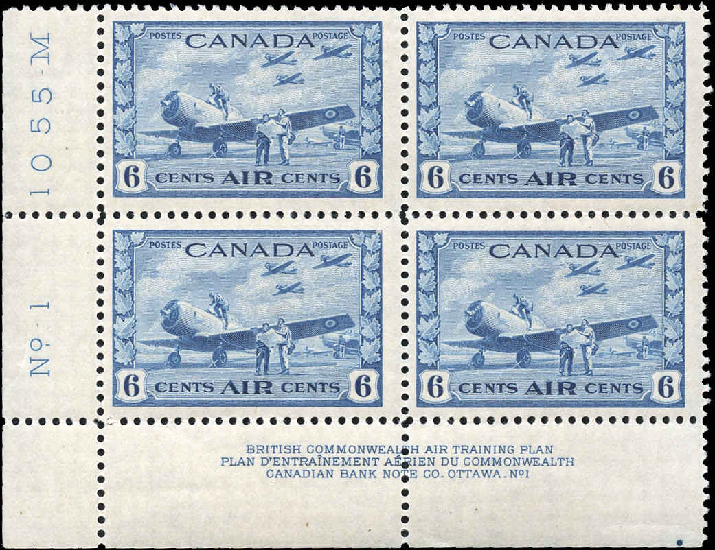 Canada #C7, Airmail Issue, F-VF, MH, Plate 1