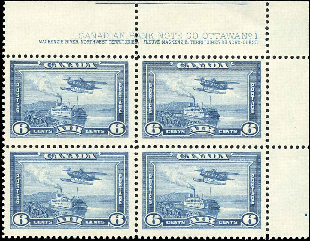 Canada #C6, Airmail Issue, F-VF, MH, Plate 1