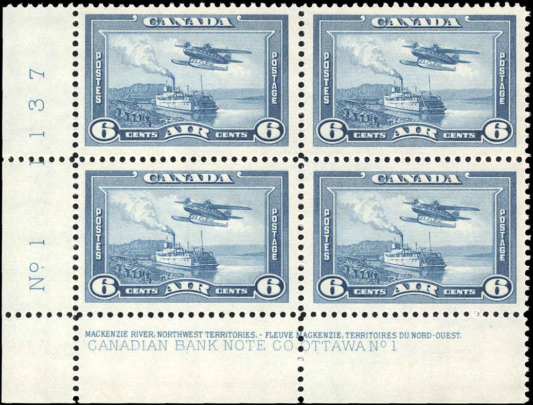 Canada #C6, Airmail Issue, VF, MH, Plate 1