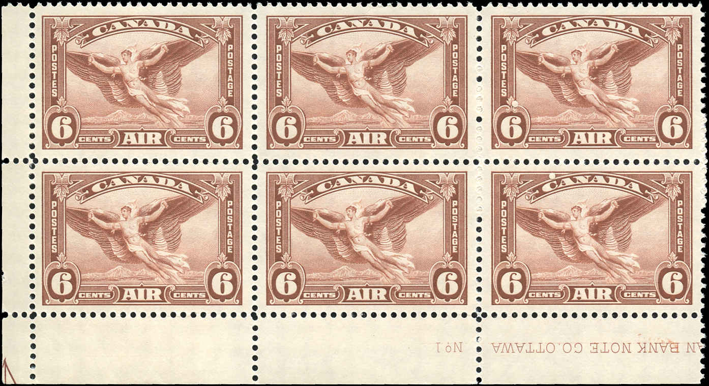 Canada #C5, Airmail Issue, VF, MNH, Plate 1