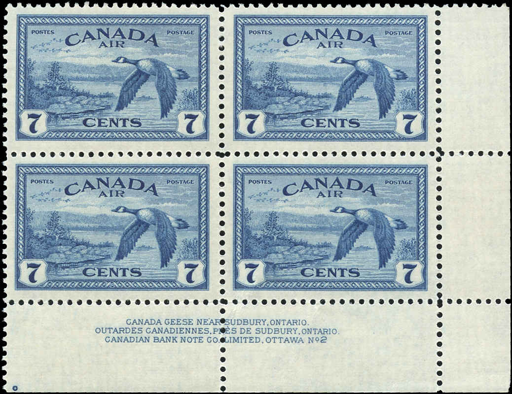 Canada #C9, Airmail Issue, VF, MNH, Plate 2