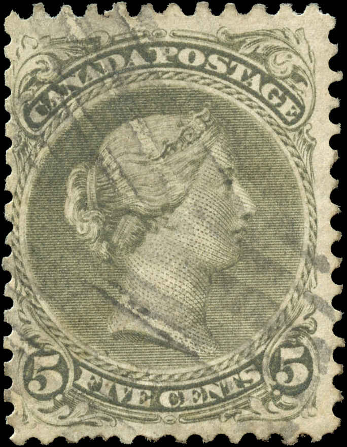 Canada ##26iv, Large Queen Issue, F+, Used