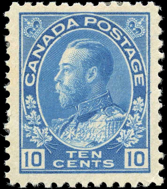 Canada #117, Admiral Issue, F-VF, MH