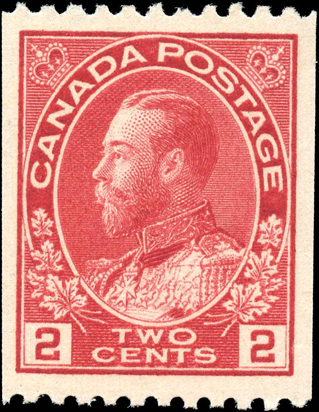 Canada #124, Admiral Issue, F-VF, MH