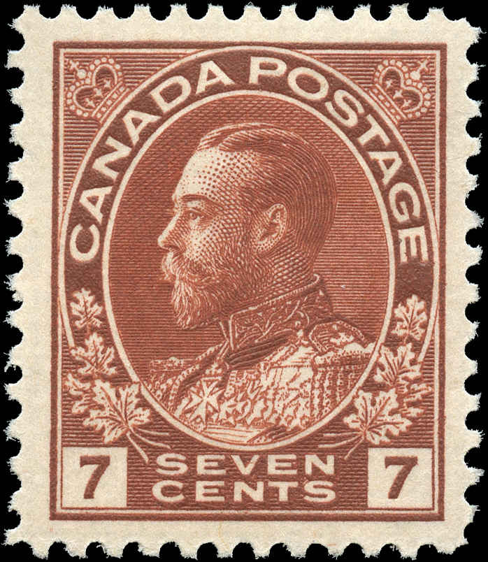 Canada #114, Admiral Issue, VF, MH