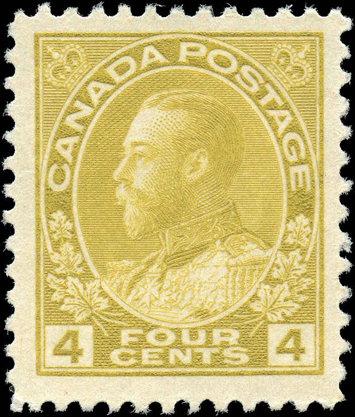 Canada #110, Admiral Issue, F-VF, MH