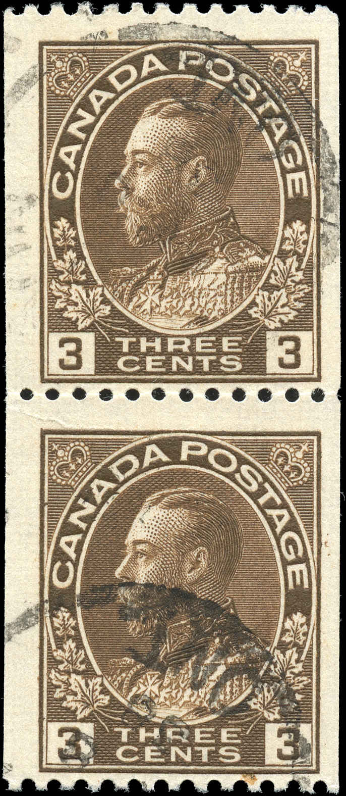 Canada #134, Admiral Issue, F+, Used