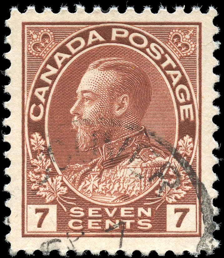 Canada #114, Admiral Issue, F-VF, Used