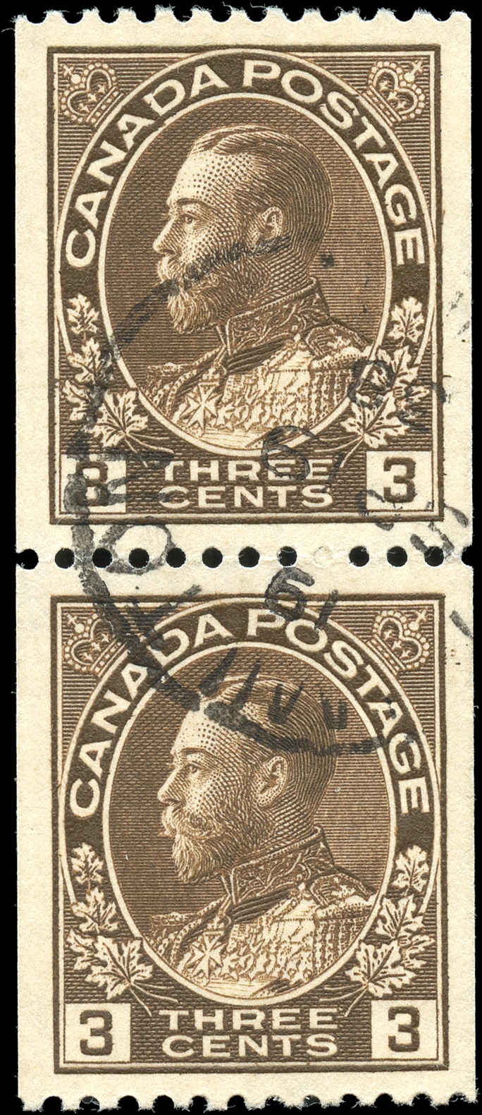 Canada #134, Admiral Issue, VF, Used