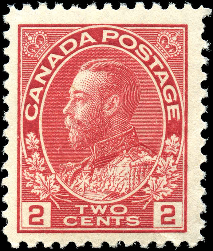Canada #106, Admiral Issue, F-VF, MNH