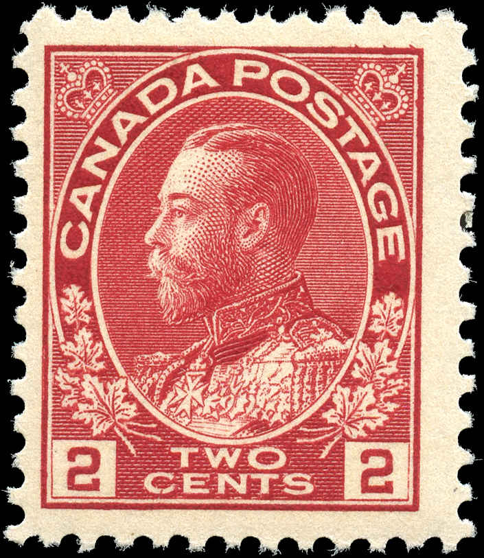 Canada #106, Admiral Issue, F+, MNH