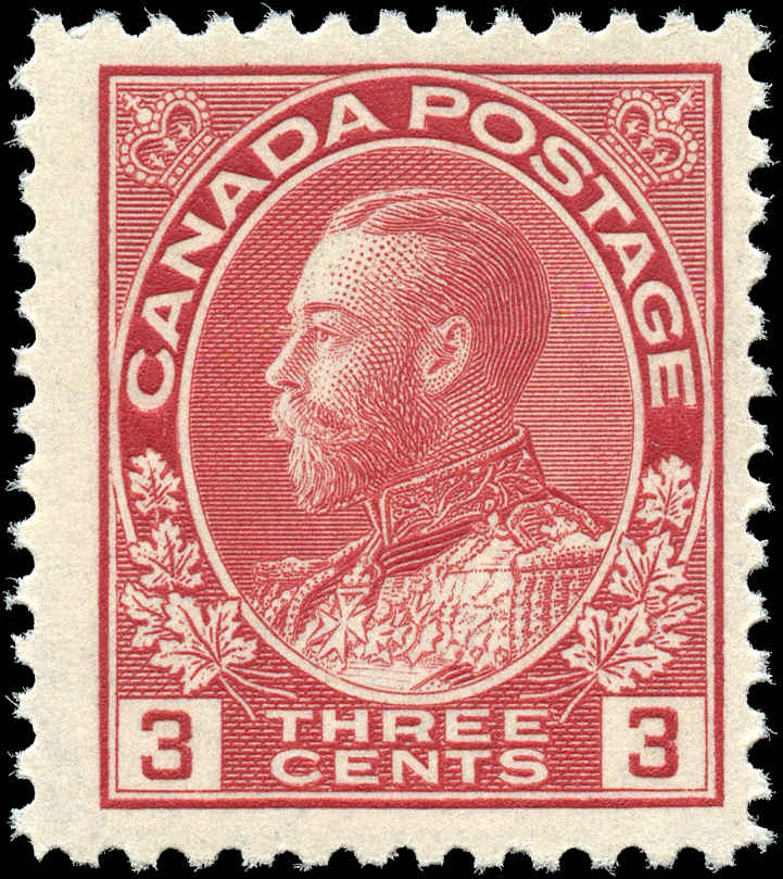 Canada #109, Admiral Issue, F+, MNH