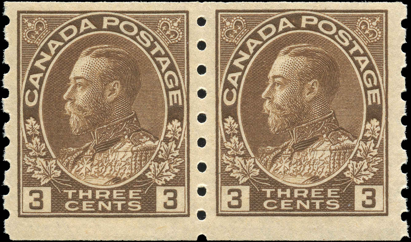 Canada #129, Pair, Admiral Issue, F+, MNH