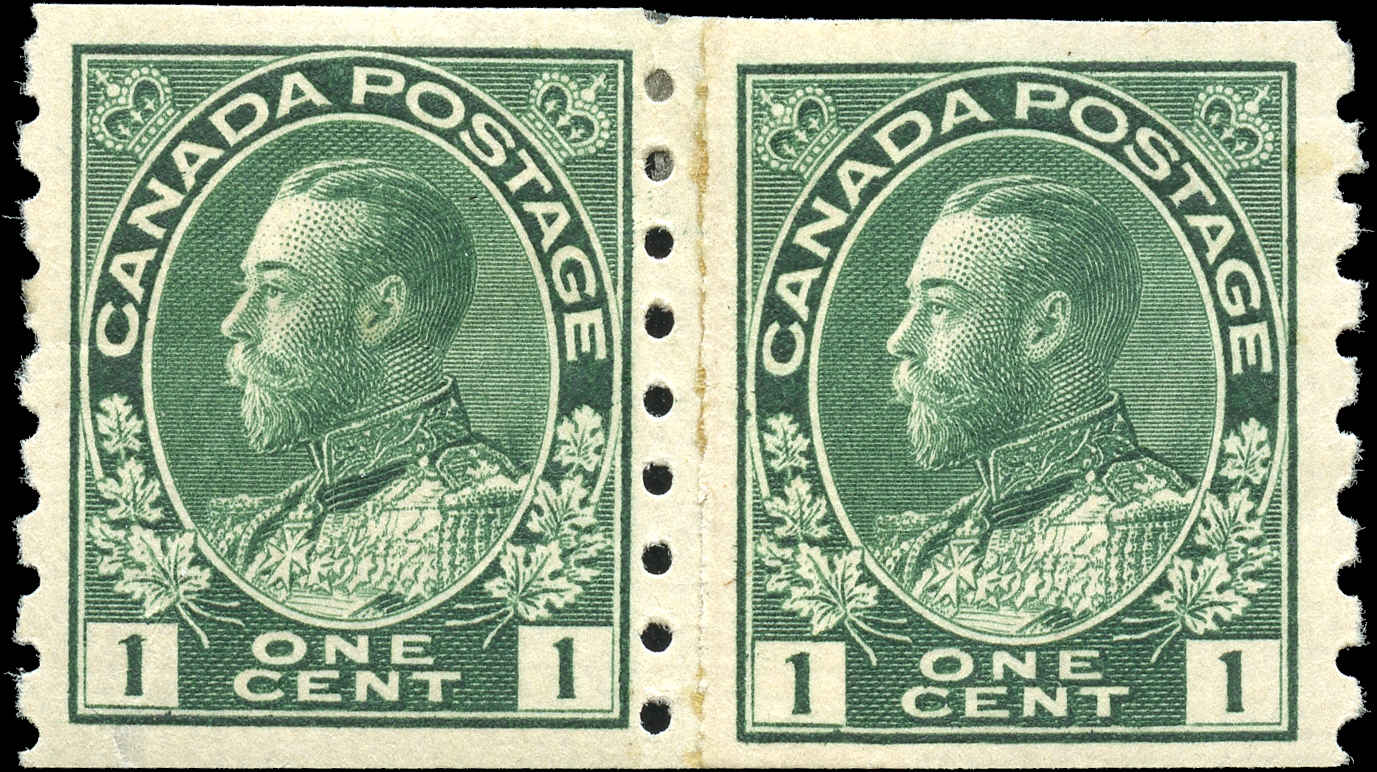 Canada #125iii, Admiral Issue, F+, MH