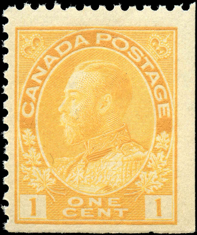 Canada #105as, Admiral Issue, F+, MNH