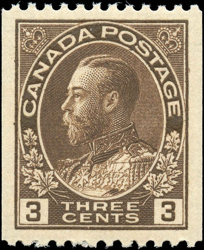 Canada #134, Admiral Issue, VF, MNH