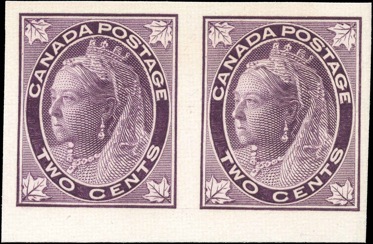 Canada ##68ai, Leaf Imperforate Issue, VF, MNG