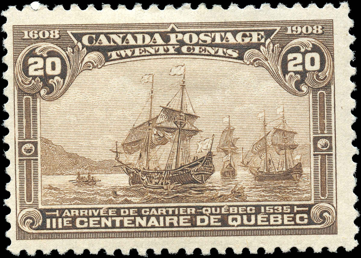 Canada #103, Tercentenary Issue, F+, MH