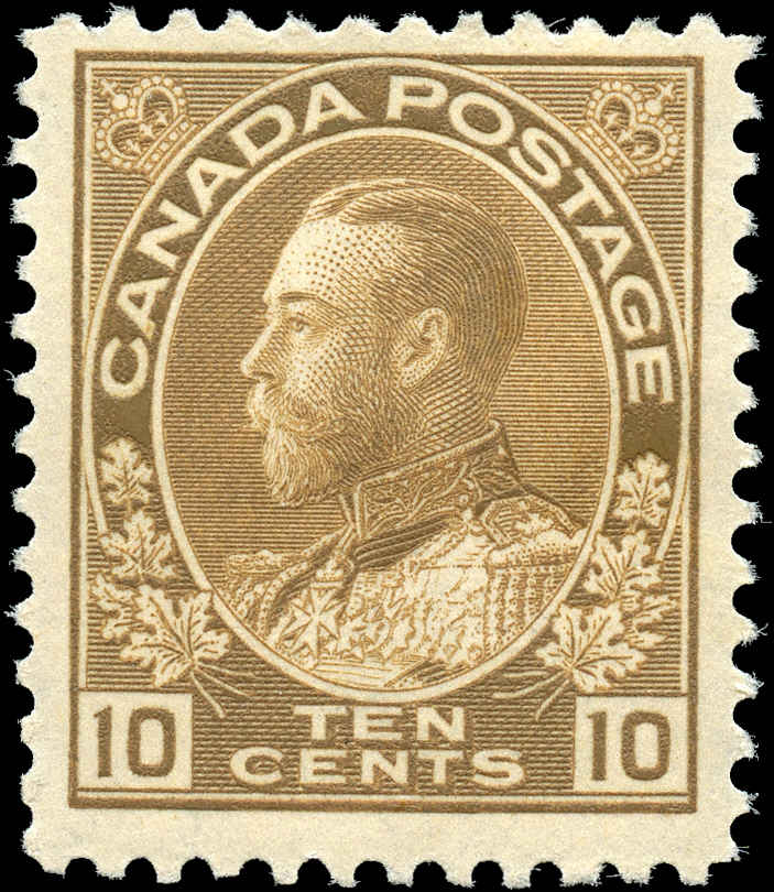Canada #118, Admiral Issue, F+, MH