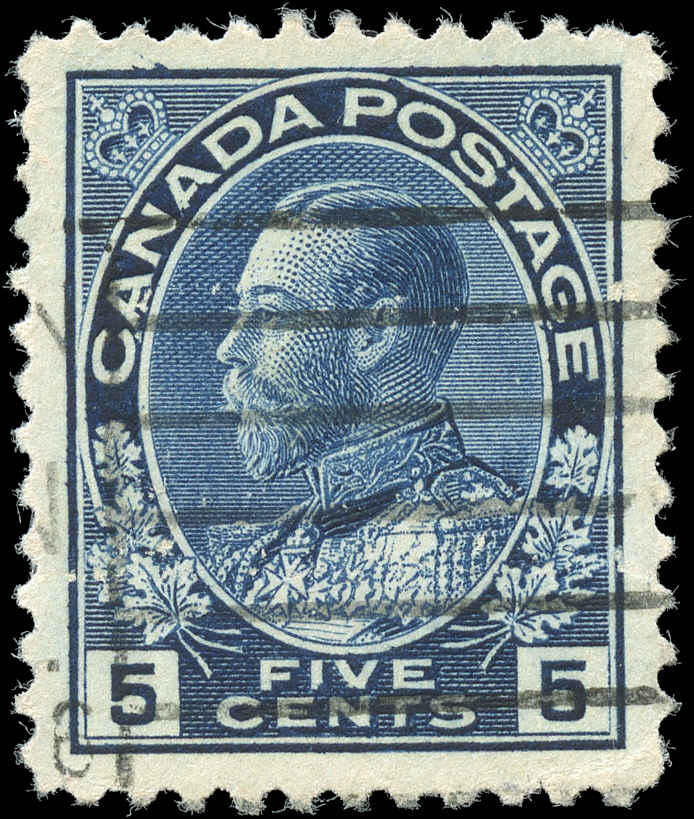 Canada #111, Admiral Issue, VF, Used-Errors