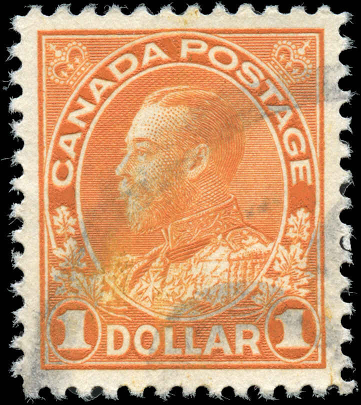 Canada #122, Admiral Issue, F-VF, Used