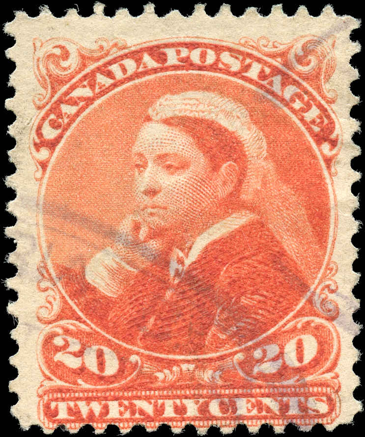 Canada ##46, Small Queen Issue, VG-F, Used