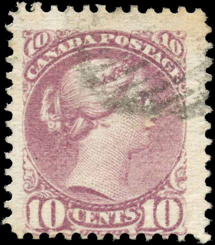 Canada ##40, 10c Small Queen, VG-F, Used