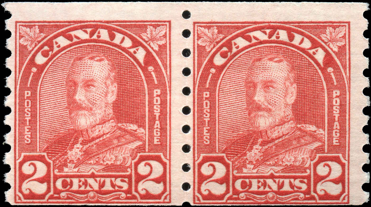 Canada #181, Coil Arch/Leaf Issue, F, MH