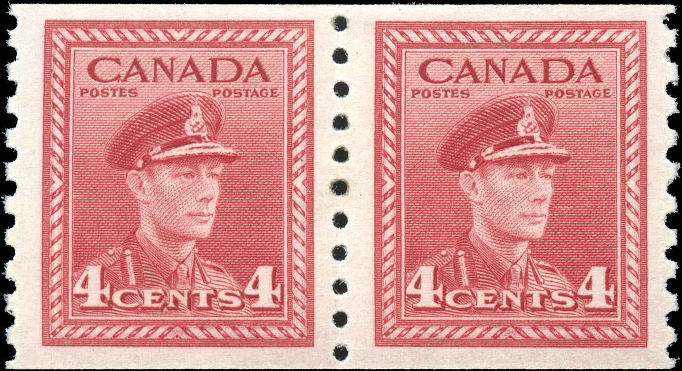 Canada #281, War Issue Coil, F-VF, MH
