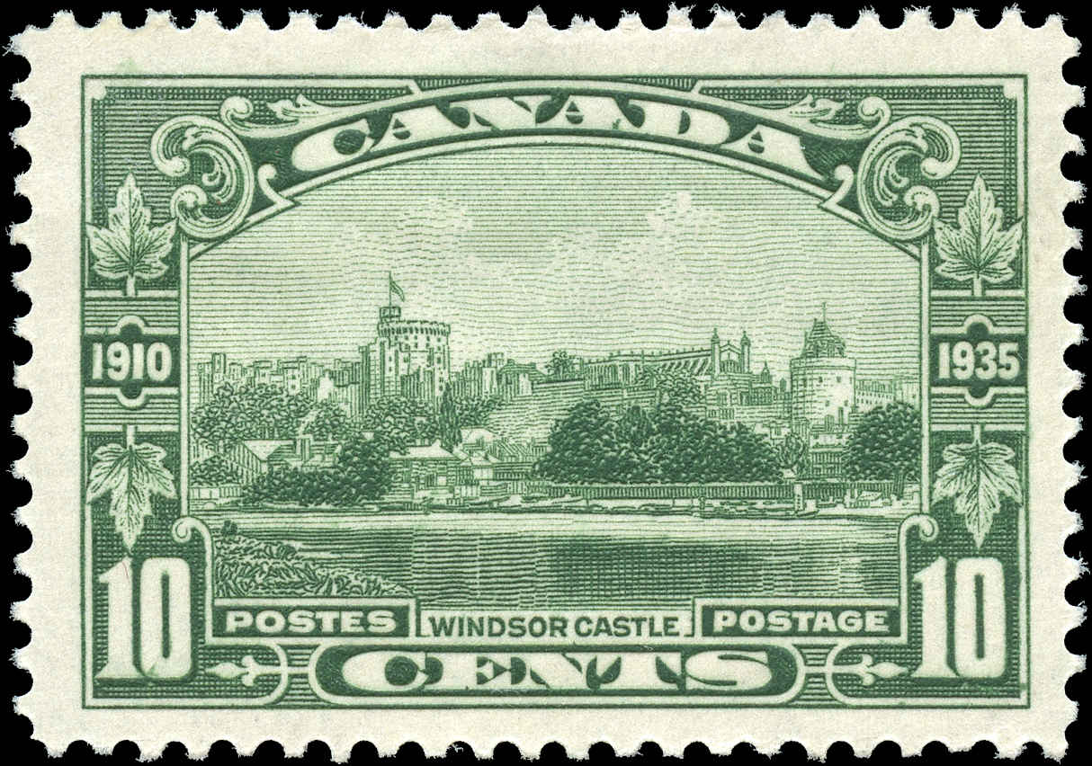 Canada #215, Silver Jubilee Issue, F-VF, MH