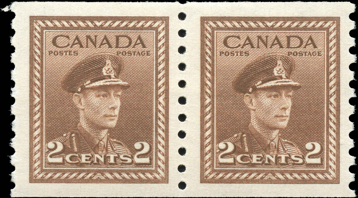 Canada #279, War Issue Coil, F-VF, MH