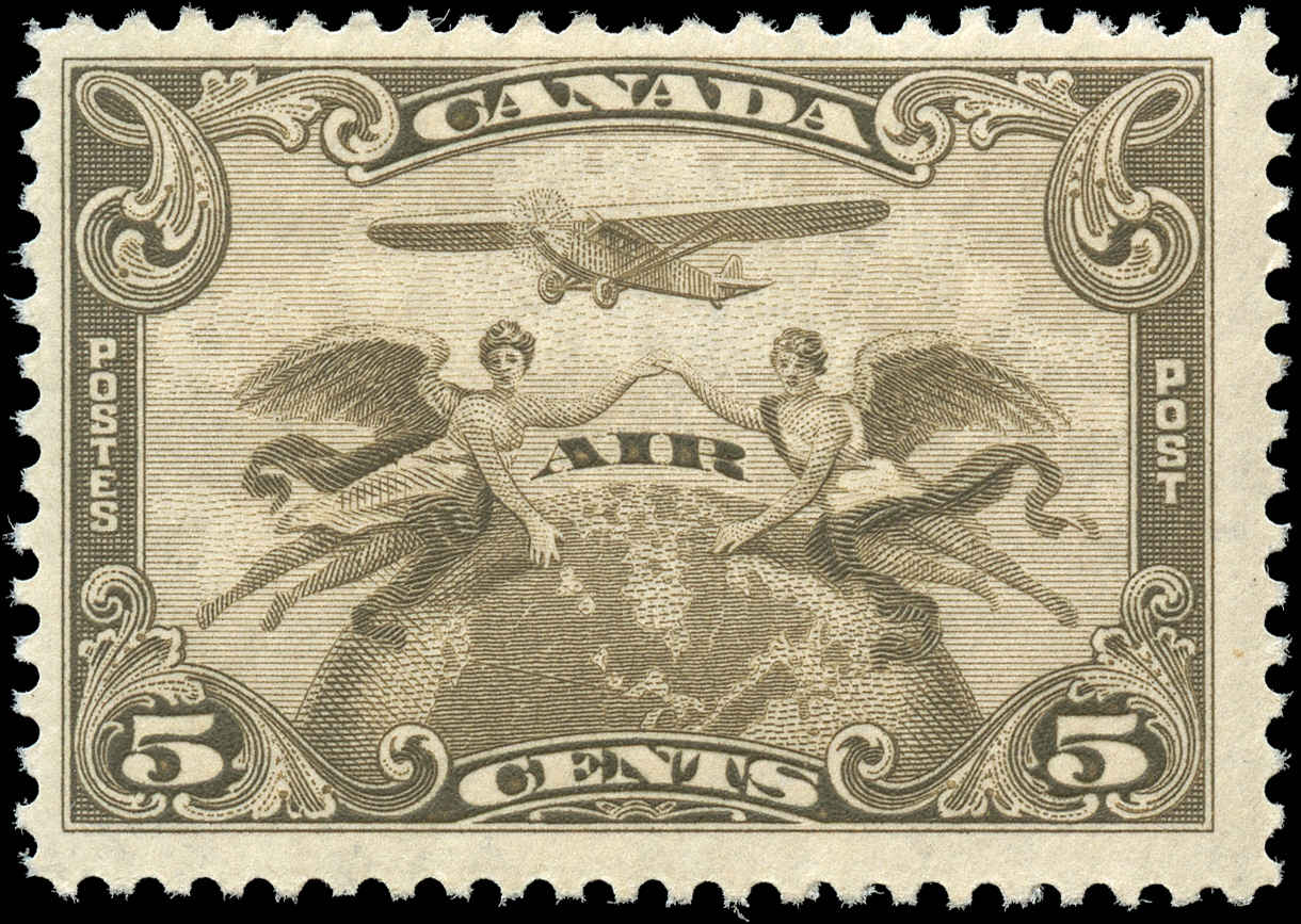 Canada #C1, Airmail Issue, F+, MH