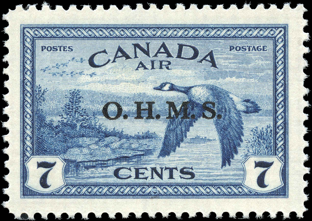Canada #CO1, Overprint Stamp, F-VF, MH